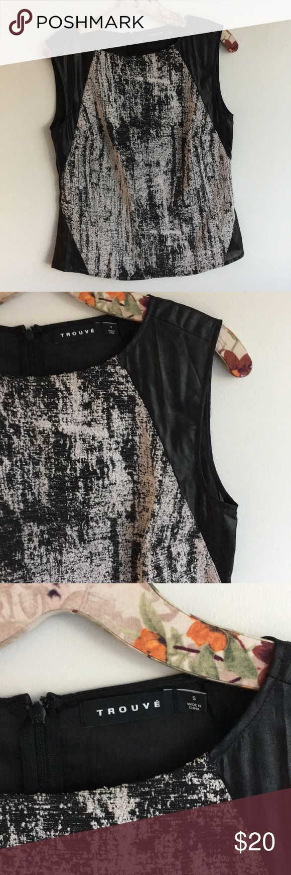 Trouble black snake print blouse Perfect condition💕 Trouve Tops Blouses