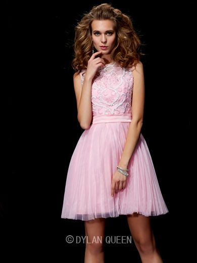 Sexy Scoop Beading Elastic Woven Satin Short/Mini DylanQueen Cocktail Dress. http://www.dylanqueen.com/sexy-a-line-princess-scoop-beading-elastic-woven-satin-short-mini-dress.html?ref=ztpin