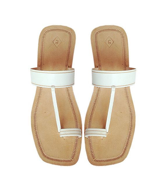 High Heel White Upper Leather Sandal DLC-W-334