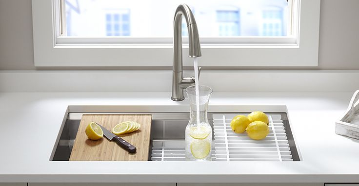 Kohler Prolific Stainless Steel Sink - Elevate your kitchen workspace to a new level of efficiency