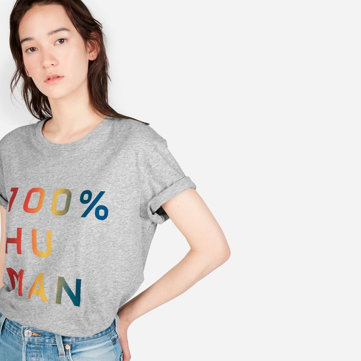 """We launched the 100% Human Collection to support two things that matter to us—protecting human rights and remembering that we are more the same than we are different. For every 100% Human Pride product sold, we're proud to donate to the <a href=""""https://www.hrc.org/"""" target=""""_blank"""" style=""""color: #4c4c4b;"""">HRC</a>. <a href=""""https://www.instagram.com/explore/tags/humantogether&#x2..."""