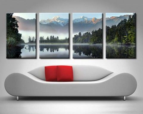Serenity-Mountain-Lake-Canvas-Prints