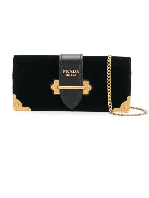 81e852c68841 Prada Logo Chain Strap Clutch - Farfetch | Bags