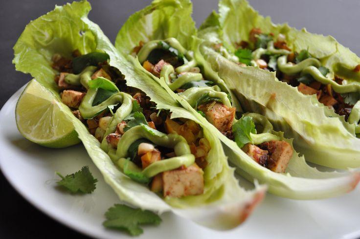 Tacos de Tofu con Salsa de Chipotle Ahumado