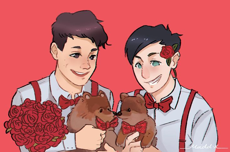 """Maddox on Instagram: """"+ = ❤️ This calendar photo shoot brought me back from the dead. #danisnotonfire #amazingphil #phanart #phan #doggos #crymeariveroffeels"""" • Instagram"""