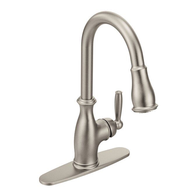 Brantford Pull Down Touch Single Handle Kitchen Faucet With