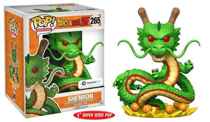 Galactic Toys DBZ Exclusive! Shenron is the first ever 6 inch pop of Funko Dragon ball z! Limit 4 per person