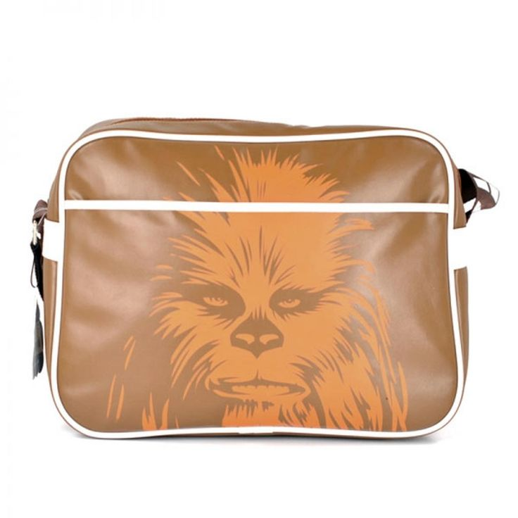 Brand: Star Wars. Key Points: Star Wars Chewbacca print Retro shoulder bag in brown. Colour: Brown