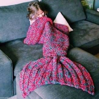 Blankets As Crocheted Mermaid Tails Artist Redesigns Size:L RED | Other Home & Garden | Gumtree Australia Manningham Area - Doncaster | 1107227878