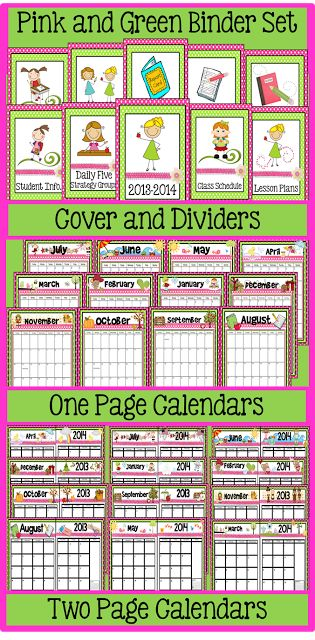 Calendar Organization Xiii : Best cute calendar sets images on pinterest school