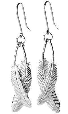 Duo Miromiro Feather Silver Earrings | Shop New Zealand NZ$ 229.00