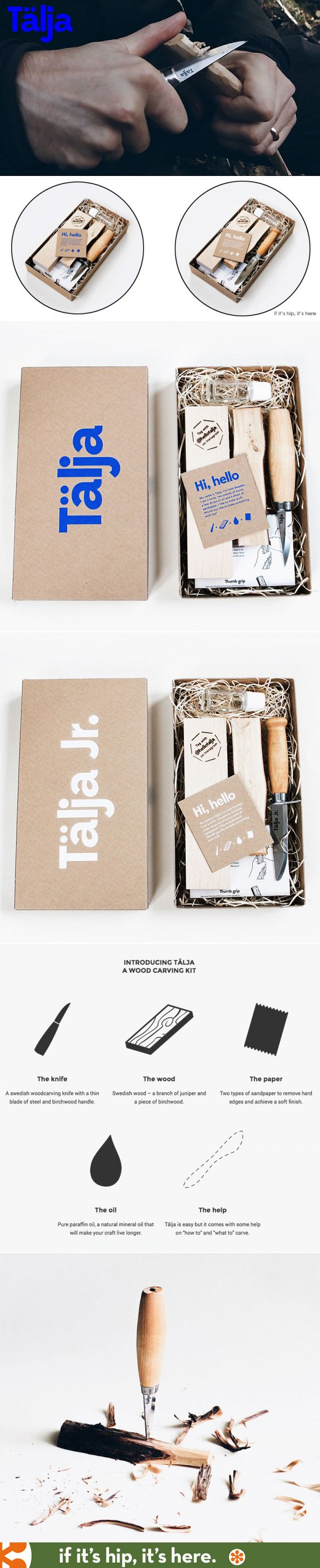 Talja Carving kits show how a few simple items, when packaged together in a well-designed manner, become a cool gift.