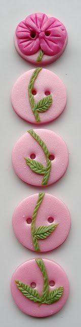 Handmade Polymer Clay Buttons / Buttons by Benji:
