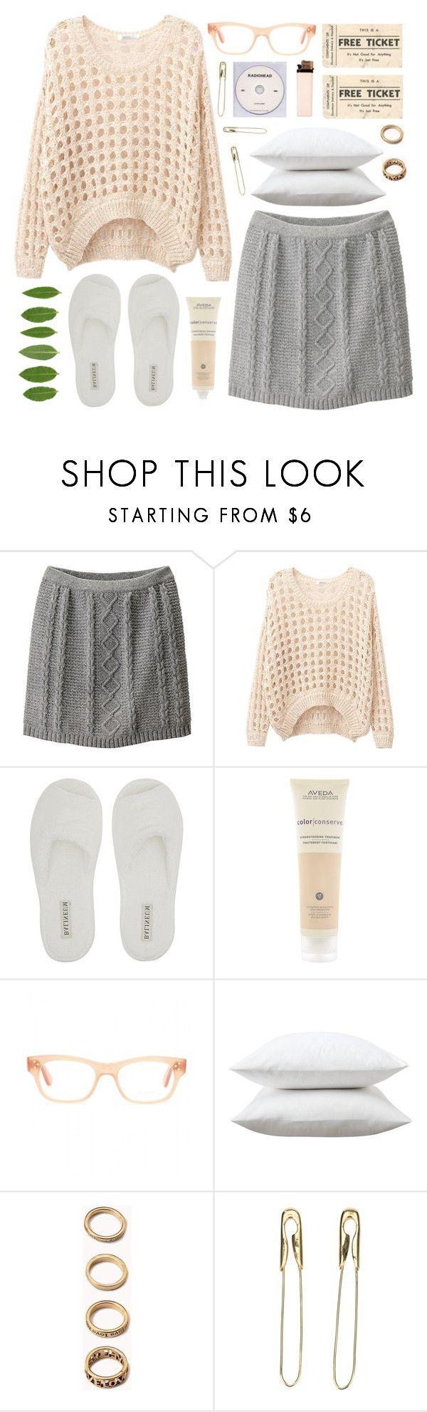 """""""Untitled #350"""" by chantellehofland ❤ liked on Polyvore featuring Uniqlo, Aveda, Oliver Peoples, Fieldcrest, Forever 21, KEEP ME and Tom Binns"""