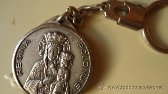 LLavero Juan Pablo II y María reína de Polonía por la otra, Santo Padre, llavero anterior Papa