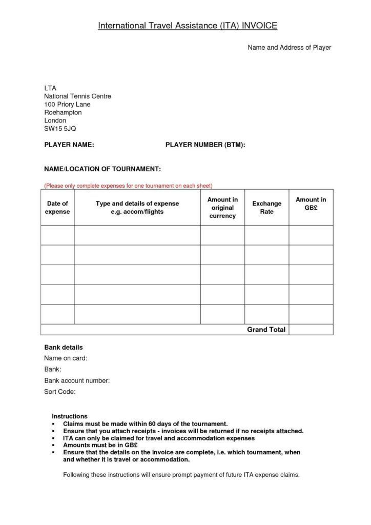 Travel Bill Template And Travel Invoice Template Invoice Template Ideas Bill Template Invoice Template Templates