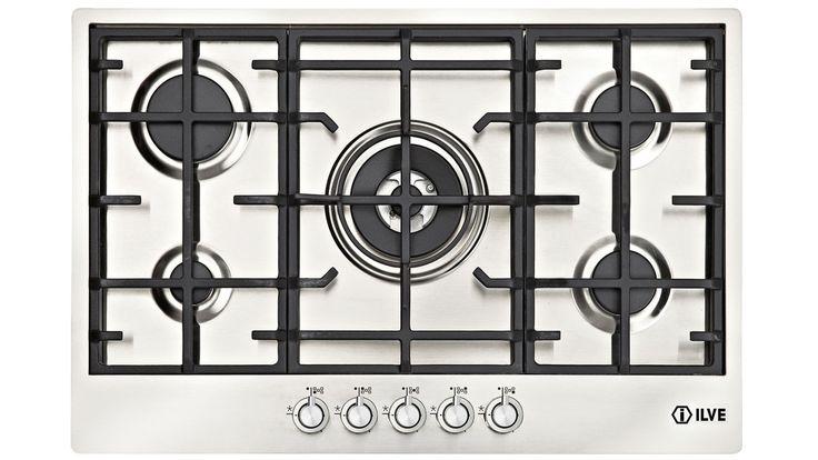 ILVE 90cm 5 Burner Gas Cooktop - Stainless Steel