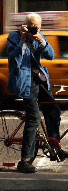 New Yorker and photographer Bill Cunningham.