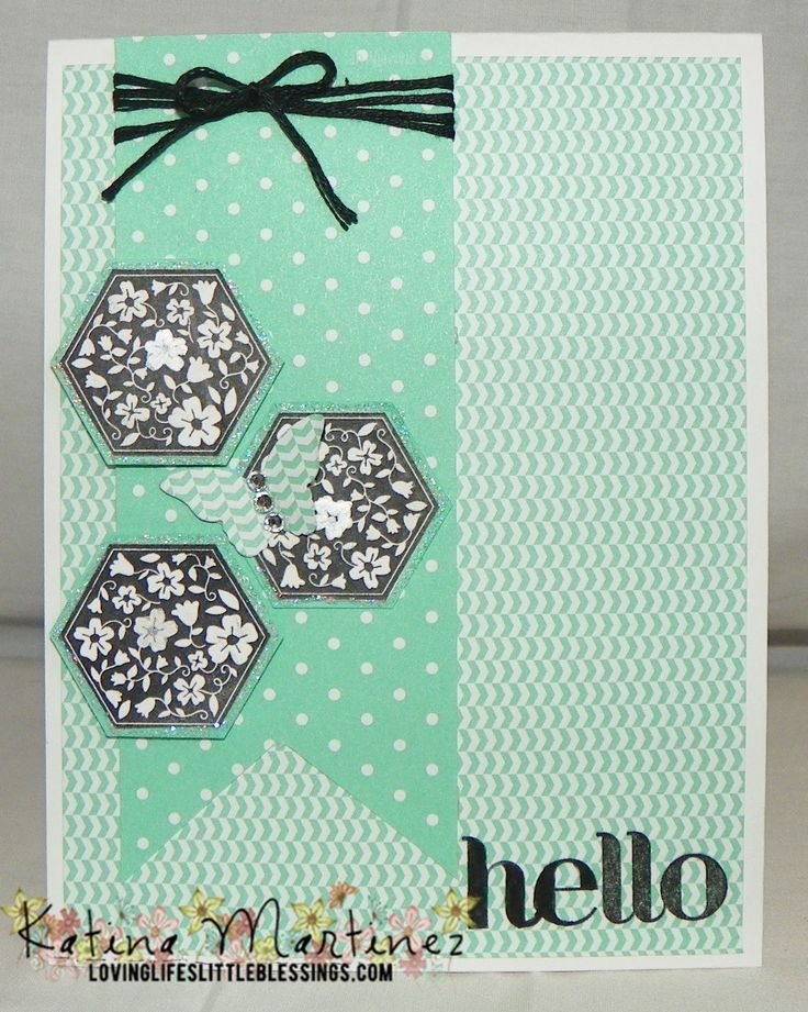stampin+up+hexagon+cards | Stampin' Up Hexagon Card - YouTube