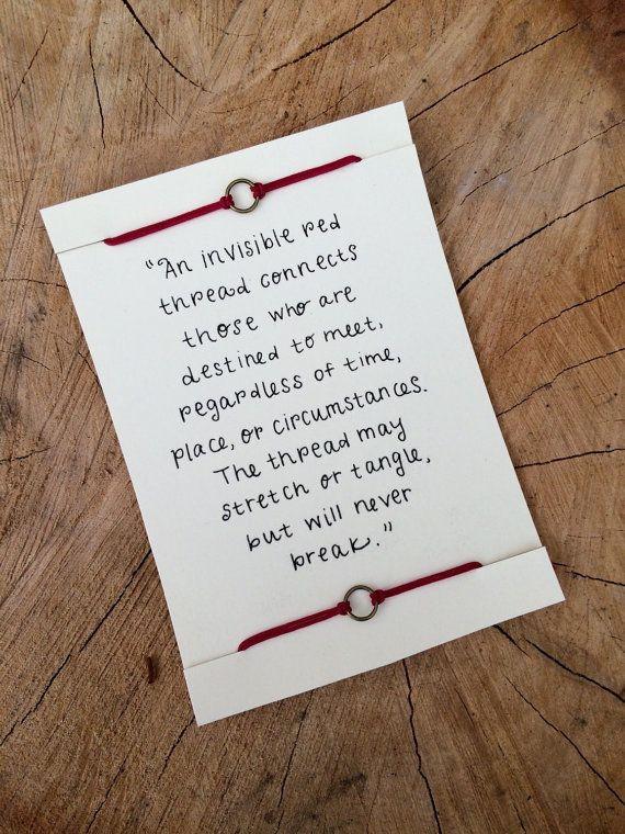 Pulseras hilo rojo ~ pulseras de la amistad ~ pulseras ajustables ~ proverbio chino pulseras