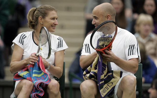Steffi Graf, Andre Aggassi the best pair of tennis.