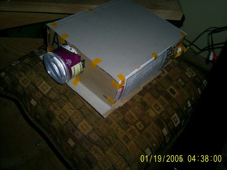 homemade projector