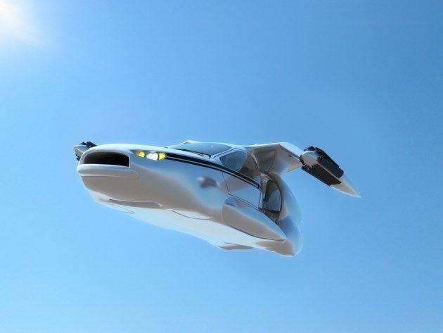 Российские учёные разрабатывают летающий автомобиль-квадрокоптер