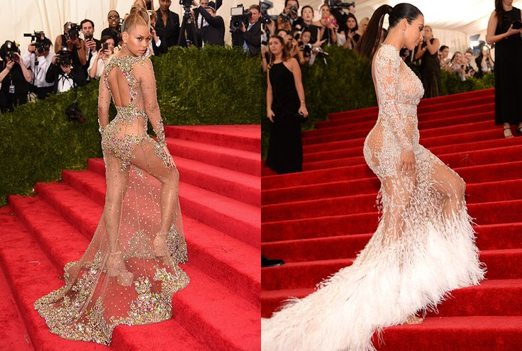 Beyoncé and Kim Kardashian battled it out for the title of Most Revealing Gown at this year's Met Gala.