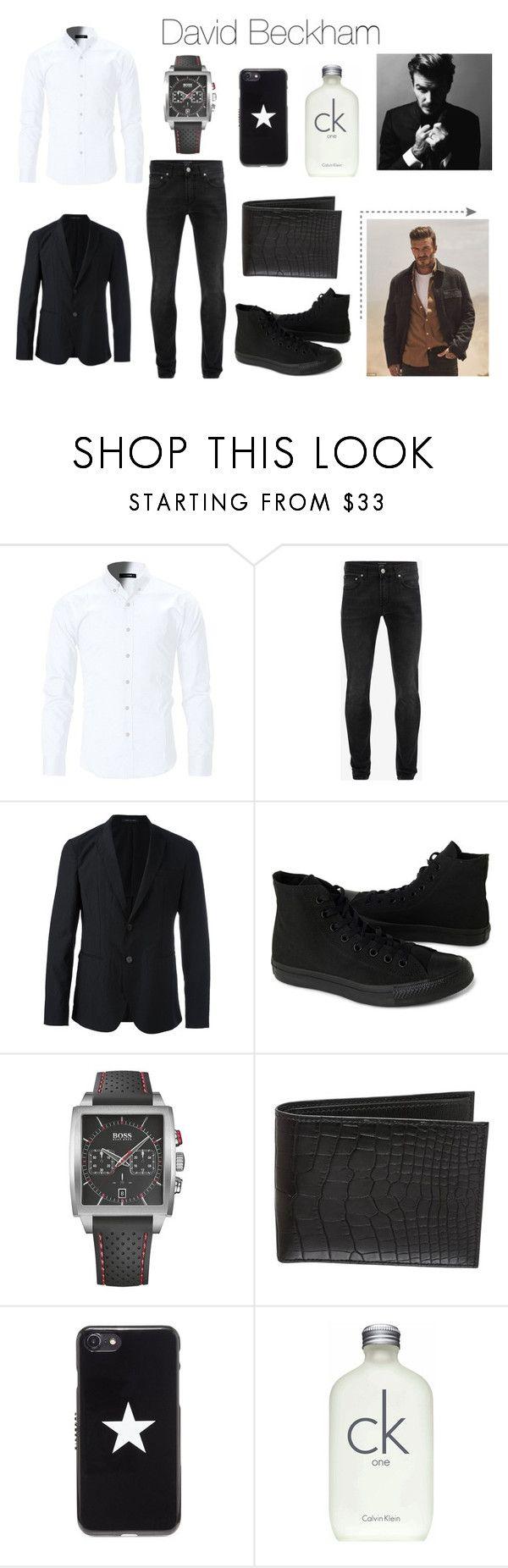 """David Beckham"" by sofifer ❤ liked on Polyvore featuring Alexander McQueen, Emporio Armani, Converse, HUGO, Hermès, Givenchy, Calvin Klein, David Beckham, men's fashion and menswear"