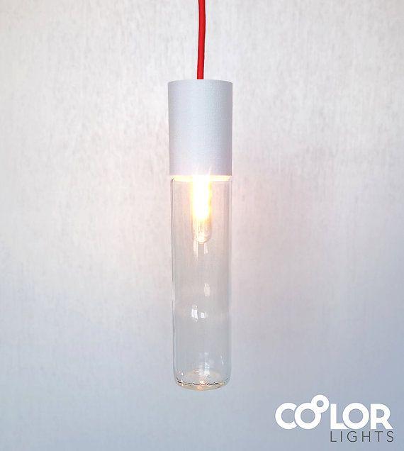 Customizable Pendant Light I375 White van CoolorLights op Etsy  #glasspendant #pendantlight #pendant_light #upcycling