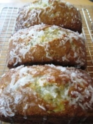 "Coconut Banana Bread with Key Lime Glaze Anything ""key lime"" sounds..."