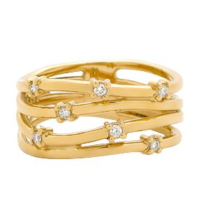 Stunning Open Wire Yellow Gold Dress Ring