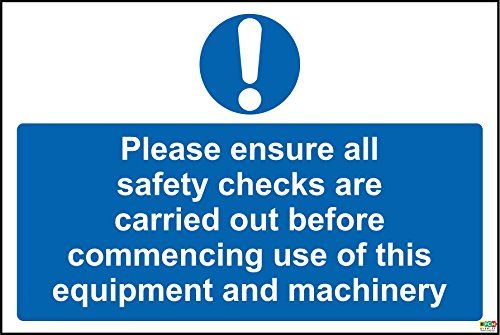 KPCM Display Hygiene catering Please ensure all safety checks are carried out before commencing use of this equip Hygiene catering Please ensure all safety checks are carried out before commencing use of this equipment and machinery safety sign - Self adhesive sticker 200mm x 150mm (Barcode EAN = 5056008734787). http://www.comparestoreprices.co.uk/december-2016-5/kpcm-display-hygiene-catering-please-ensure-all-safety-checks-are-carried-out-before-commencing-use-of-this-equip.asp