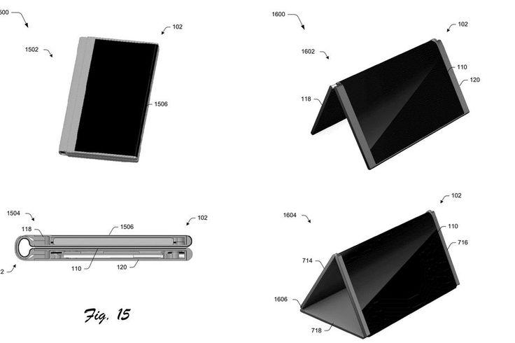 Microsoft Patenkan Desain Ponsel Lipat Yang Dapat Berubah Menjadi Tablet