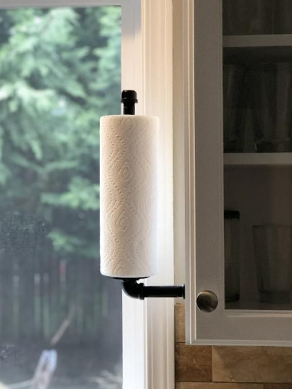Paper Towel Holderpaper Towel Holder Standingpaper Towel Etsy In 2020 Vertical Paper Towel Holder Industrial Paper Towel Holders Rustic Paper Towel Holders