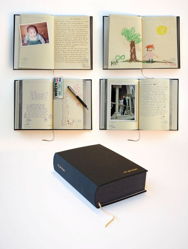 A diary for your whole life - big enough to stand 100 years