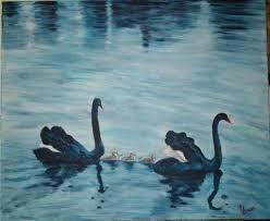 Resultado de imagen de cisnes pintura