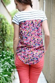 Merrick's Art // Style + Sewing for the Everyday Girl: Anthropologie Pattern Pop Tee (Refashion & Tutorial)