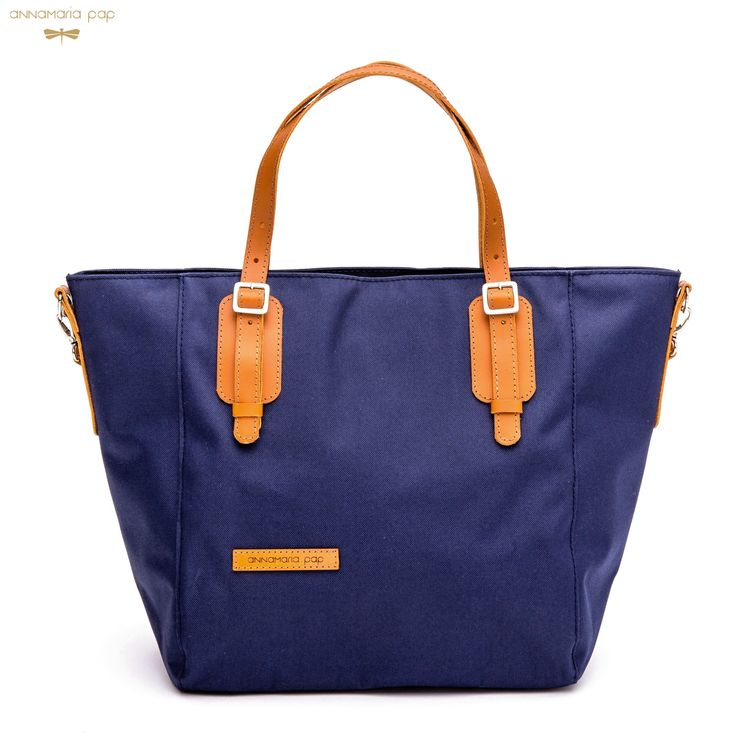FAME Navyblue bag with leather accessories