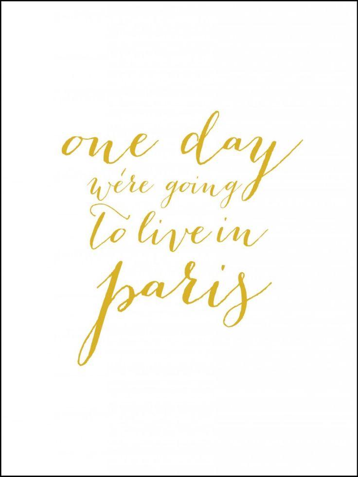 Poster - LIVE IN PARIS - Guldliknande