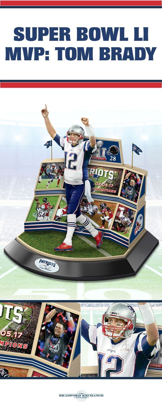 Commemorate NFL history with the New England Patriots Super Bowl LI Championship Moments Sculpture. Featuring a limited edition of only 2,017, this stirring tribute captures star quarterback and MVP Tom Brady in action.