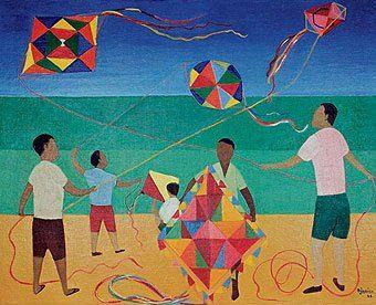 Meninos com pipa, 1966 Djanira da Motta e Silva (Brasil, 1914-1979) óleo sobre tela, 65 x 81 cm