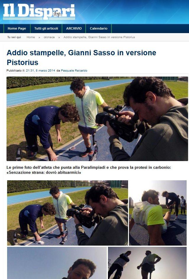 #IlDispari quotidiano - #Ischia Addio stampelle, Gianni Sasso in versione Pistorius