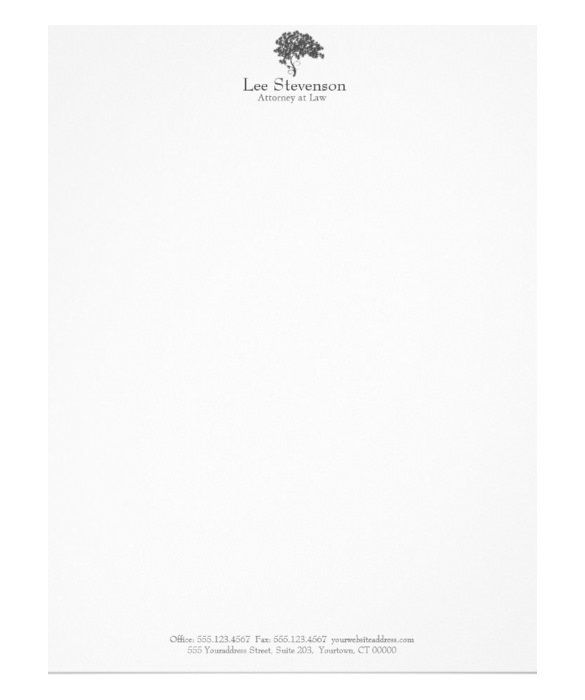 22 Law Firm Letterhead Templates Free Sample Example Format