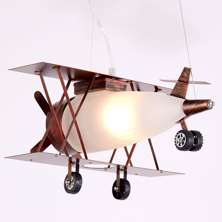 Whimsical Novelty Rust Bi Plane Firefly Kids Airplane pendant lamp lighting for Bedroom Living Room Restaurant Bar Loft  from Reliable lamp light bulb socket suppliers on Contemporary Store
