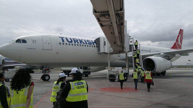 Turkish Airlines A330-300 in Cape Town