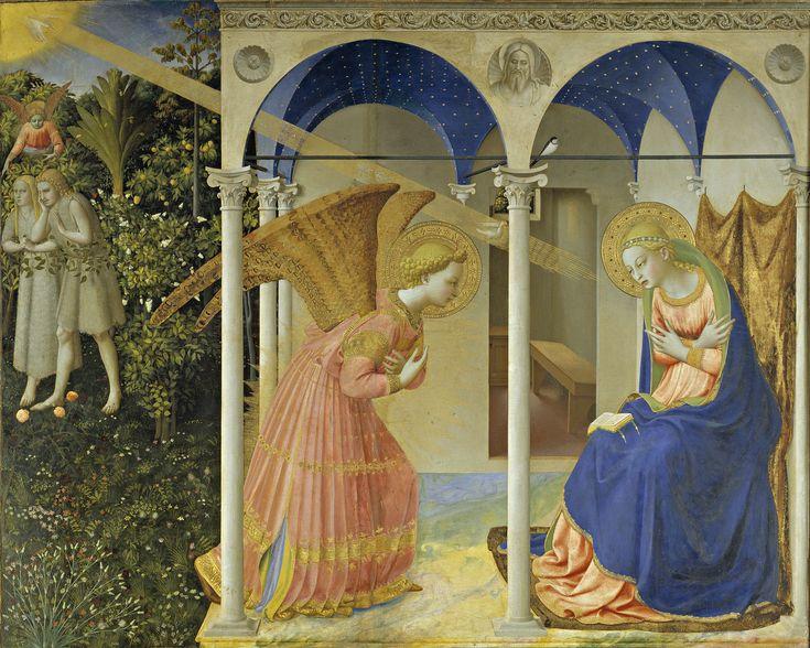 La anunciación de Fra Angélico (Museo del Prado, Madrid). De Fra Angelico (hacia 1395–1455) - Galería online, Museo del Prado., Dominio público, https://commons.wikimedia.org/w/index.php?curid=45124868