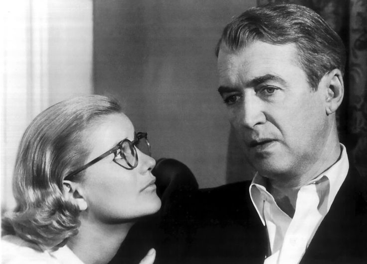 "Barbara Bel Geddes with James Stewart in ""Vertigo"" (1958)"