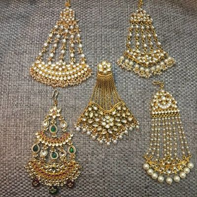 Jhoomers - Gold and Pearl Jhommer Designs | WedMeGood  #indianwedding #jhoomer #indianbride #gold #jewelry #indianjewelry