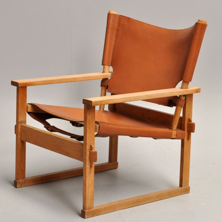 Kai Winding; #60 Oak and Leather Easy Chair fr Poul Hundevad, c1960.